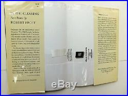 SIGNED by ROBERT FROST, In the Clearing 1962 First Edition 1st Printing