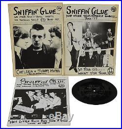 SNIFFIN' GLUE Vols 2 thru 12 Punk Fanzine First Edition 1976 1977 Mark Perry