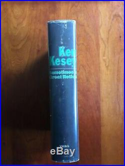 SOMETIMES A GREAT NOTION by Ken Kesey 1st Edition SIGNED/inscribed RARE