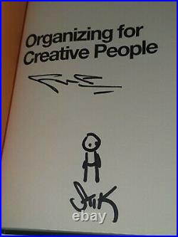 STIK Handmade Signed Art Doodle Sketch with 1st edition book not poster or print