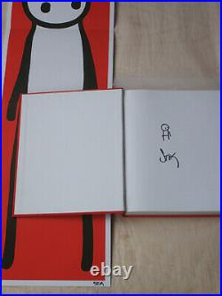 STIK rare Signed & Doodled 1st Edition Book 2015 + Signed Red Poster