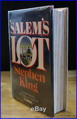 Salem's Lot (1975) Stephen King Signed, Code Q37 1st Edition In Dust Wrapper