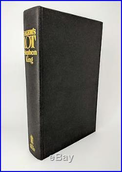 Salem's Lot Stephen King Signed & Inscribed UK First Edition 1st/1st 1976