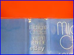 Salman Rushdie,'Midnight's Children' SIGNED first edition 1st/1st, Booker