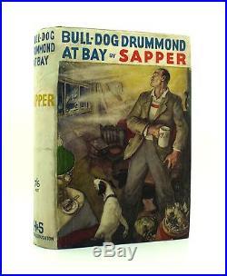 Sapper Bull-Dog Drummond At Bay First UK Edition 1935 SIGNED Hodder Rare