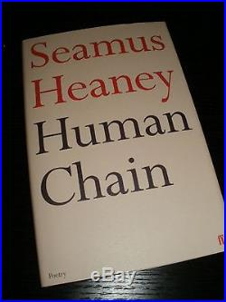 Seamus Heaney Human Chain signed first edition int'l postage