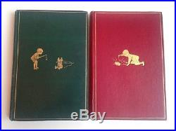 Set Winnie the Pooh Quartet First Edition 1st Printings One Signed Pooh Corner