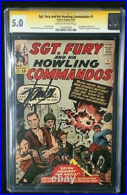 Sgt. Fury and His Howling Commandos #1 Signed by Stan Lee CGC SS