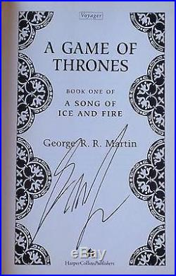Signed A GAME OF THRONES by George R. R. Martin 1996 U. K. TRUE 1st FIRST EDITION