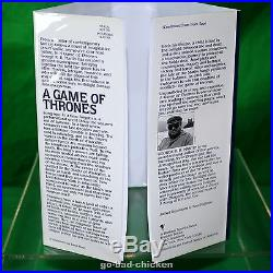 Signed A GAME OF THRONES by George RR Martin 1996 FIRST EDITION 1st HC FINE COND