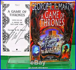 Signed A GAME OF THRONES by George RR Martin UK 1st Hardcover TRUE FIRST EDITION