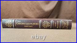 Signed Chronicles of Pern by Anne McCaffrey Leather Easton Press 1st Edition