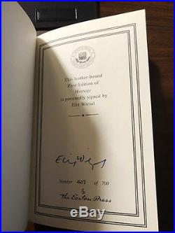 Signed Easton Press Hostage Elie Wiesel First Edition 407 Of 700 Gold Trimmed
