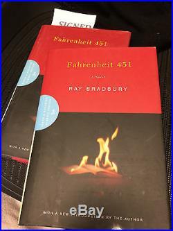 Signed Fahrenheit 451 Ray Bradbury 1st Edition 50th Anniverary Ed As New In Dj