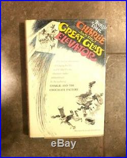 Signed First Edition Charlie Great Glass Elevator Roald Dahl Chocolate Factory