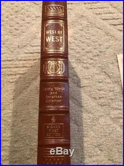 Signed First Edition Easton Press Gold West By West Hof Jerry West La Lakers