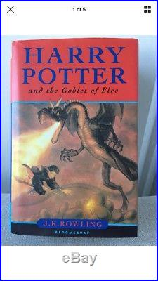 Signed First Edition Goblet Of Fire Harry Potter J K Rowling
