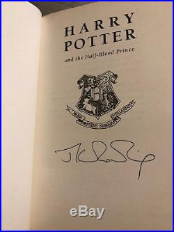 Signed First Edition Harry Potter & The Half-Blood Prince, JK Rowling. Never read