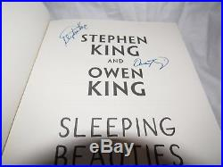 Signed First Edition Sleeping Beauties by Stephen King & Owen King with EXTRAS