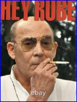Signed Hunter S. Thompson 1st edition of Hey Rube Taschen receipt from 2004