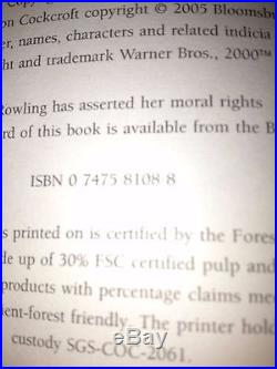 Signed J K Rowling First Edition Harry Potter And The Half Blood Prince 2005