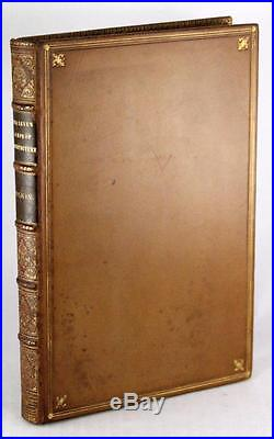 Signed John Ruskin First Edition Full Leather 1849 Seven Lamps Of Architecture
