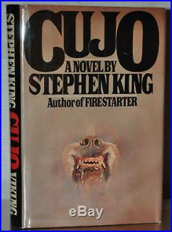 Signed Near Fine 1st/1st Edition Cujo Stephen King