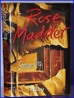 Signed Near Fine 1st/1st Edition Rose Madder Stephen King