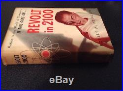 Signed Robert Heinlein First edition Revolt in 2100 Shasta 1953 HC DJ VG