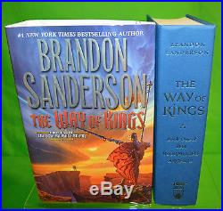 Signed THE WAY OF KINGS Brandon Sanderson 1st First Edition HC Cosmere Universe