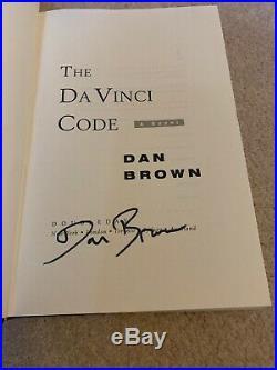 Signed The Da Vinci Code Dan Brown First Edition 1/1