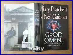 Signed True First Edition Good Omens. Terry Pratchett Neil Gaiman. 1st Gollancz