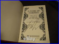 Signed UK 1st BCA Edition A Game of Thrones by George R. R. Martin