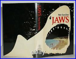 Signed With Shark Drawing Fine 1st/1st Edition Jaws Peter Benchley