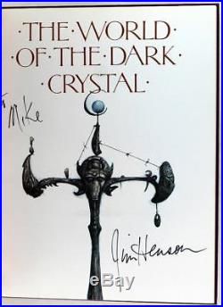 Signed by Jim Henson First Edition 1982 The World of the Dark Crystal HC withDJ