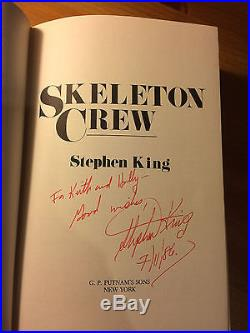 Skeleton Crew, Stephen King. Signed First Edition
