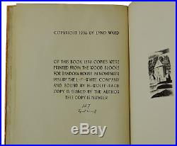 Song Without Words LYND WARD Signed Limited First Edition 1936 Copy 127/1250