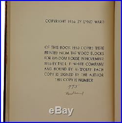 Song Without Words LYND WARD Signed Limited First Edition 1936 Copy 775/1250