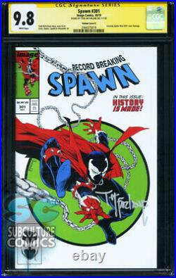 Spawn #301 First Print Cgc 9.8 Signed Todd Mcfarlane Variant Image