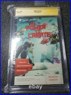 Spider-Gwen #1 SIGNED Skottie Young Variant CGC SS 9.8 Marvel 1st Print