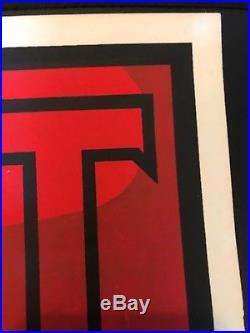 Stalin-Lenin Banner Shepard Fairey Signed AP VERY RARE First Edition-1998