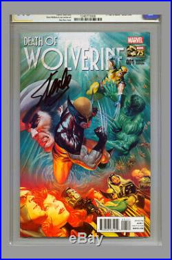 Stan Lee SIGNED 1st Day FDI CGC SS 9.8 Death of Wolverine #1 Alex Ross Variant