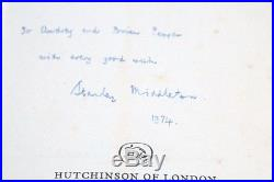 Stanley Middleton Holiday Hutchinson, 1974, UK Signed First Edition