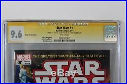 Star Wars #1 1st Day Issue Alex Ross Variant CGC 9.6 SS Signed Stan Lee