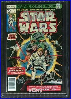 Star Wars #1 CGC 9.6 signed Stan Lee+8 Marvel comics 1977