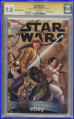 Star Wars #1 Quesada Variant CGC 9.8 Signed by Stan Lee First Day of Issue