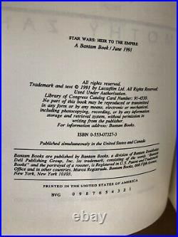 Star Wars Heir To The Empire Deluxe Limited First Edition 4/300 Signed Zahn Rare