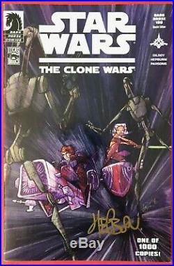 Star Wars The Clone Wars (2008) #1 Signed Variant Comic Book 1st Ahsoka
