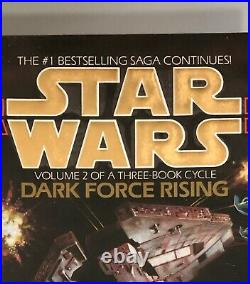 Star Wars Thrawn Dark Force Rising Deluxe First Edition 3/350 Signed Zahn Rare