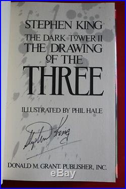 Stephen King (1987)'Dark Tower II Drawing of the Three' signed first edition
